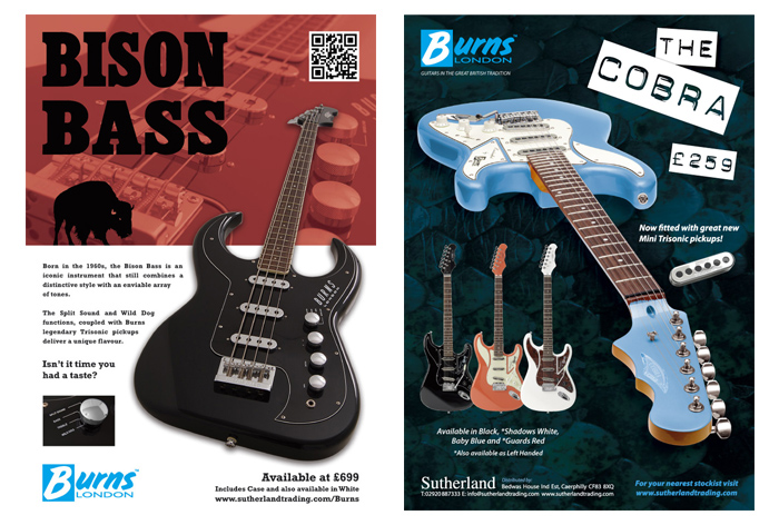 Burns Guitars Advertising