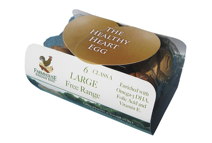 Healthy Heart Egg Pack Design