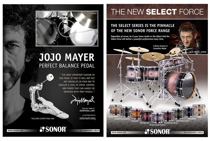 SONOR Advertising Jojo Mayer