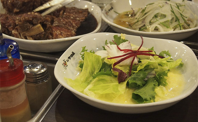 Korean BBQ And Salad