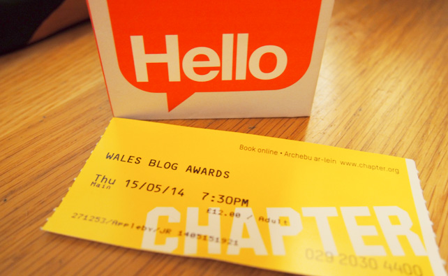 Wales Blog Awards 2014 - Hello